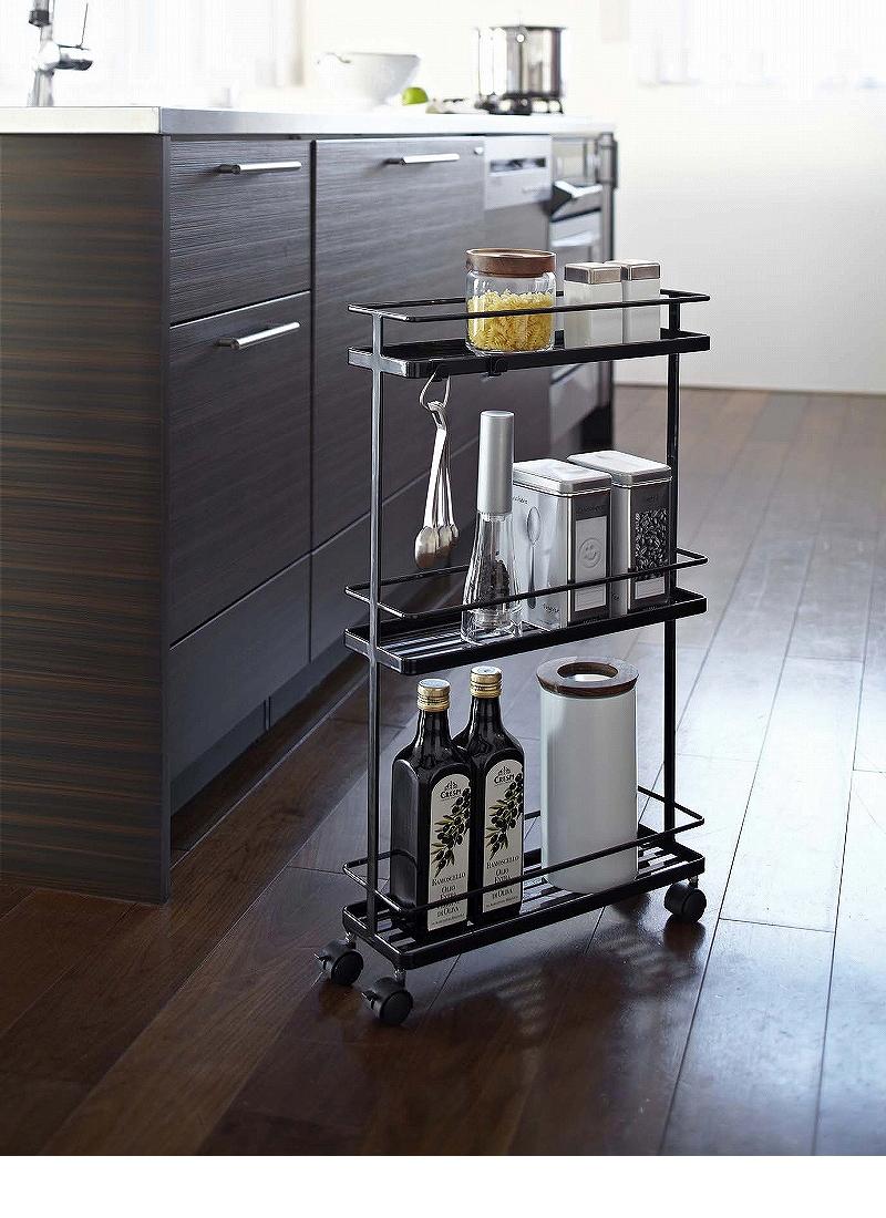 おしゃれで機能的な10台のキッチンワゴン:プラスαの家具、キッチンワゴンを置いてみる 8番目の画像