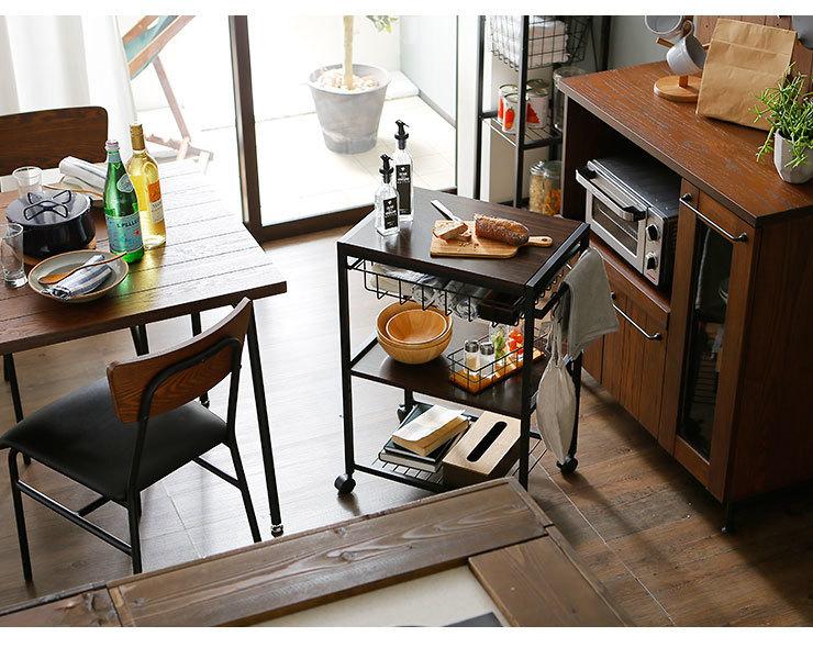 おしゃれで機能的な10台のキッチンワゴン:プラスαの家具、キッチンワゴンを置いてみる 11番目の画像