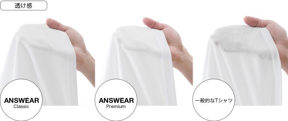 """5月3日「肌が透けない白無地Tシャツ」数量限定で再販決定。透けないオトコの""""ANSWEAR"""" 3番目の画像"""