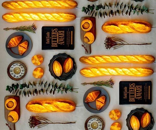 楽しくて美しいインテリアライト、それは本物のパンを使った「パンプシェード」でした。 3番目の画像