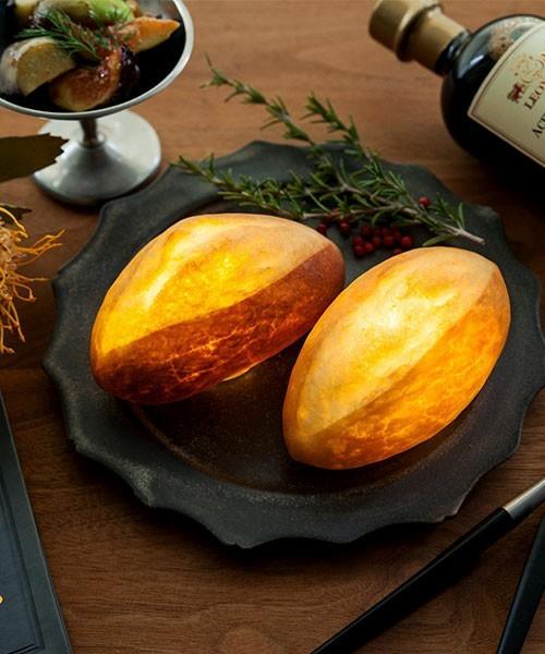 楽しくて美しいインテリアライト、それは本物のパンを使った「パンプシェード」でした。 7番目の画像