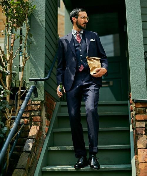 お洒落にスーツ×ベストを着こなすコツ。スーツ×ベストのおすすめコーデ集 2番目の画像