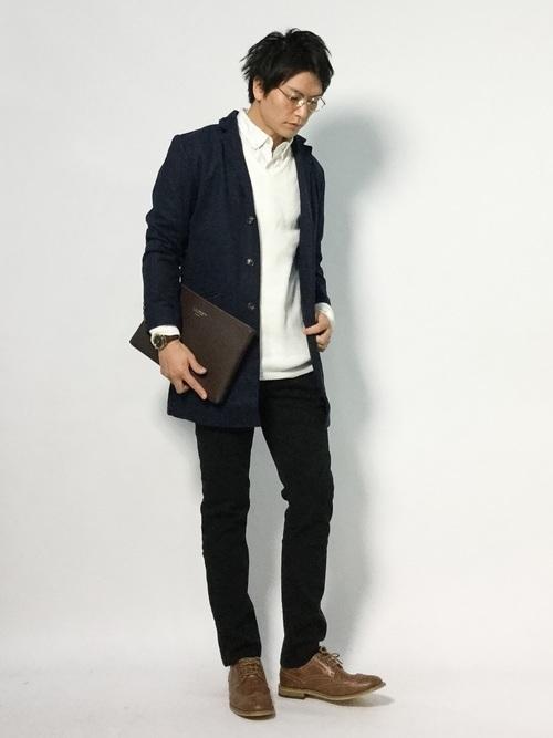 エレガントなのに男っぽい。チェスター&ステンカラーのロングコート着こなし術 3番目の画像