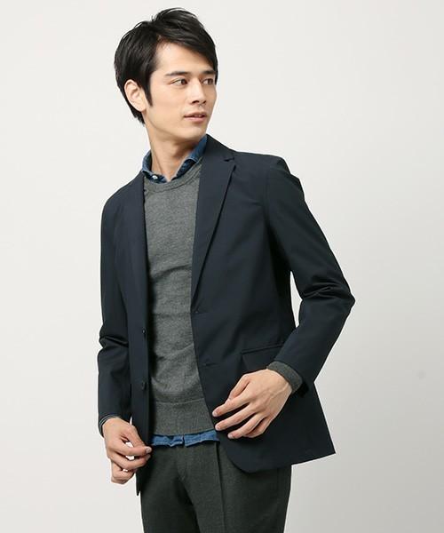 セーター×シャツ×ジャケットのビジカジメンズコーデ集 1番目の画像