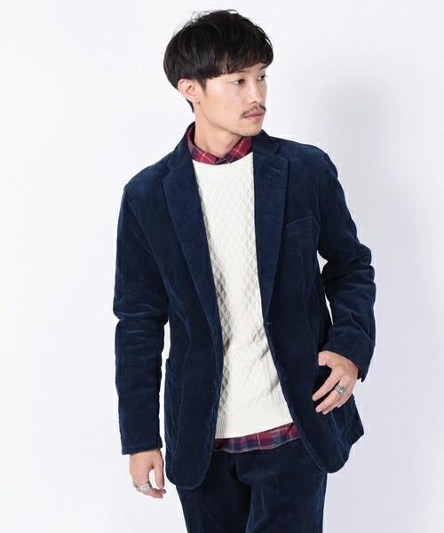 セーター×シャツ×ジャケットのビジカジメンズコーデ集 9番目の画像