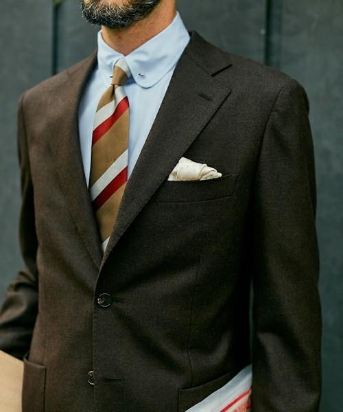 秋冬スーツの新定番「ブラウンスーツ」:ブラウンスーツのおしゃれな着こなしでワンランク上を目指す 5番目の画像