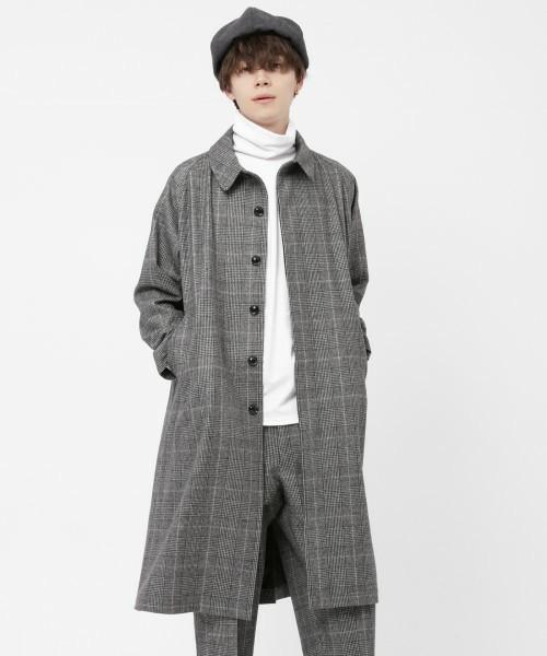シックな魅力がたまらないクラシックアウター。おすすめのグレンチェックコートと着こなし術 6番目の画像