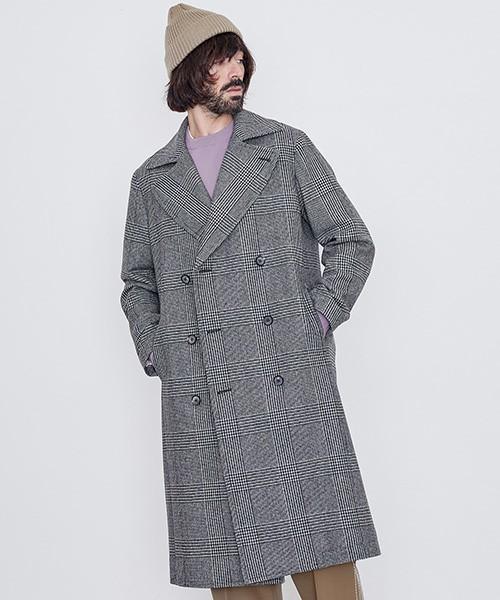 シックな魅力がたまらないクラシックアウター。おすすめのグレンチェックコートと着こなし術 8番目の画像