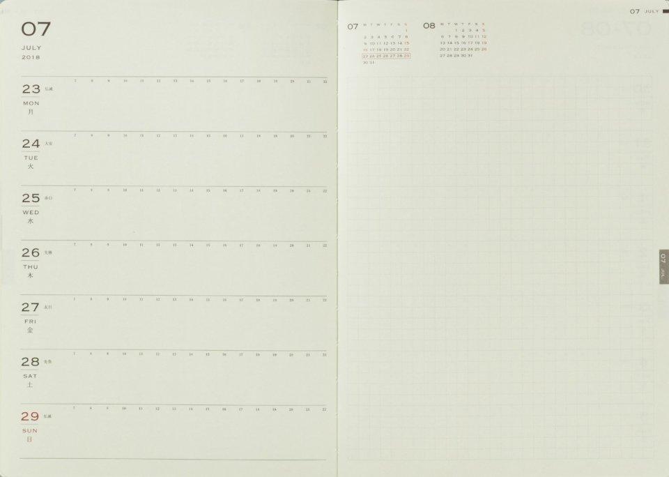知って得する手帳の効果的な使い方。月ならマンスリー、週はレフト、日ならバーティカルを選べ! 3番目の画像