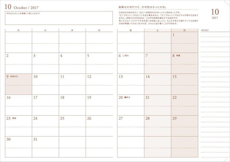 知って得する手帳の効果的な使い方。月ならマンスリー、週はレフト、日ならバーティカルを選べ! 2番目の画像
