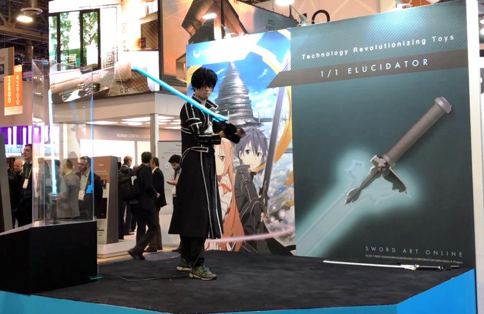 【CES 2018】SAOの剣が「ホンモノ」になった!超おもちゃを実現したものづくりの変化 1番目の画像