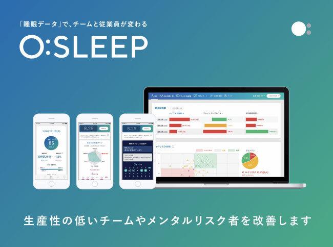 """生産性低下と休退職のキーは""""睡眠""""!「O:」が世界初を実現、睡眠データから休退職率と生産性低下をAIで高精度予測 1番目の画像"""