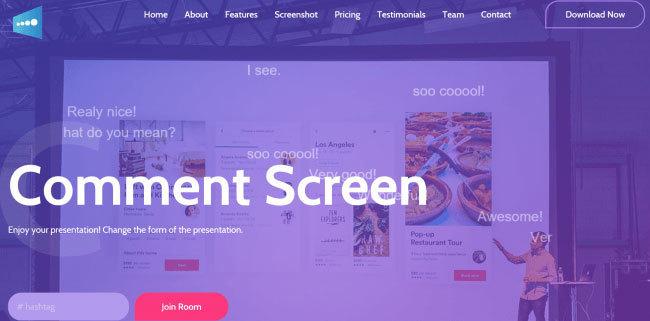 プレゼンに遊びゴコロを!双方向プレゼンアプリ 「Comment Screen」登場 1番目の画像