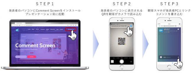 プレゼンに遊びゴコロを!双方向プレゼンアプリ 「Comment Screen」登場 3番目の画像