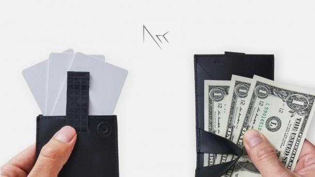 ミニマリストのためのお財布。お札、コイン、カードが入って超薄型の二つ折り財布「Arc Clipfold」 1番目の画像
