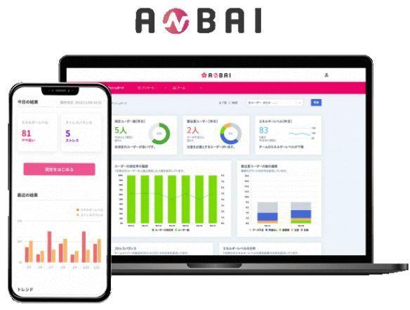 スマホを活用して従業員のストレスを測定し、組織運営に活かすサービス「ANBAI」の販売が開始 1番目の画像