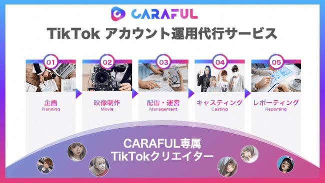 「インスタ映え」より「TikTok映え」をめざせ! CARAFUL、企業のTikTokアカウント運用代行サービスを開始  1番目の画像