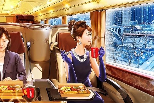 通勤バスで朝食を。ネスレ、バス会社と合同で予約制豪華バスを運行へ 1番目の画像