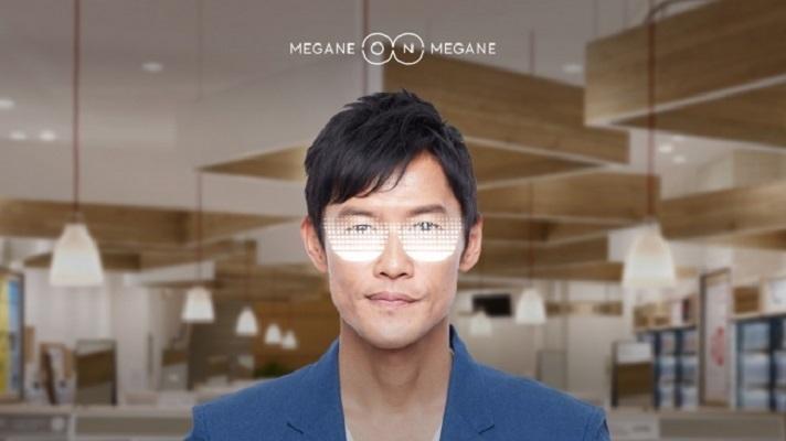 今のメガネをかけたまま新しいメガネを試着できる!JINS渋谷パルコ店にAI画像生成による試着システムが登場 3番目の画像
