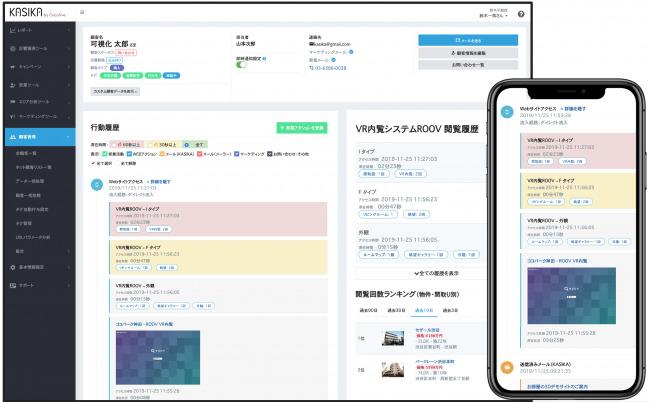 不動産マーケティング自動化ツール「KASIKA」とVR内覧システム「ROOV」が業務提携 1番目の画像