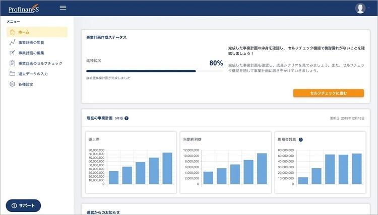 最短3分で事業計画を作れるWebサービス「ProfinanSS」が無料公開、投資家視点でのチェック機能も 2番目の画像