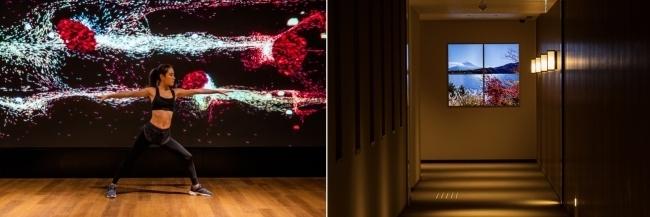 ホテルインディゴ箱根強羅の大浴場に大型LEDビジョンが登場 2番目の画像