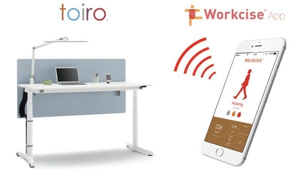 座りすぎるとデスクが動く!イトーキの昇降デスク「toiro」がアプリと連携し進化 1番目の画像