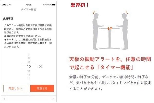 座りすぎるとデスクが動く!イトーキの昇降デスク「toiro」がアプリと連携し進化 3番目の画像