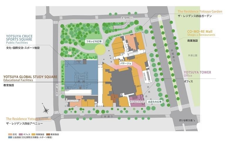 四谷駅前に大規模ランドマーク「CO・MO・RE YOTSUYA(コモレ四谷)」が竣工 2番目の画像