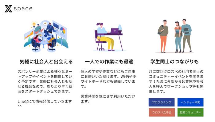 学生と企業が出会えるスペース「Xspace」が仙台にオープン 2番目の画像