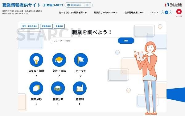 約500の職業の総合的な情報を提供する「日本版O-NET」が3月にスタート、労働市場の「見える化」をめざす 2番目の画像