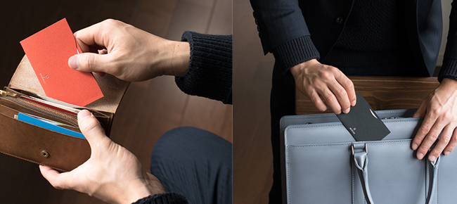 名刺交換の意外性で印象アップ。名刺を着飾る「THE CARD JACKET」が新発売 4番目の画像