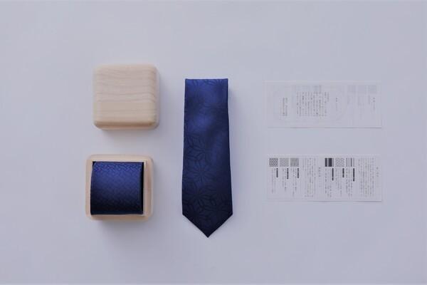 博多織ブランドOKANOから、紋様に平和を願う祈りを込めたネクタイ「衿結」が登場 2番目の画像