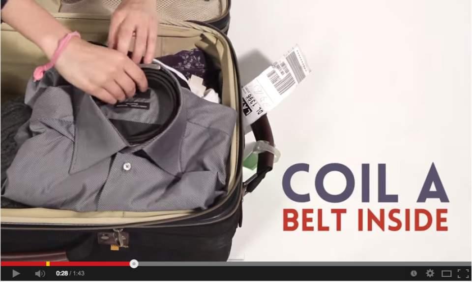 【シャンプーはコンタクトケースの中?】スーツケースに全て収まる、話題の「神業収納テク」動画 3番目の画像