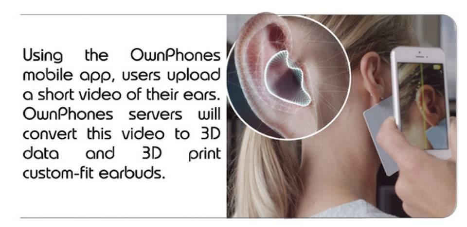 自分の耳をスマホで撮影するだけ!3Dプリンターで作る自分専用イヤホンが近未来すぎる 2番目の画像